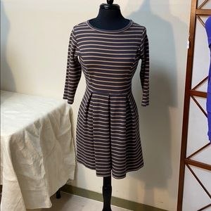 Boden Striped Navy Dress